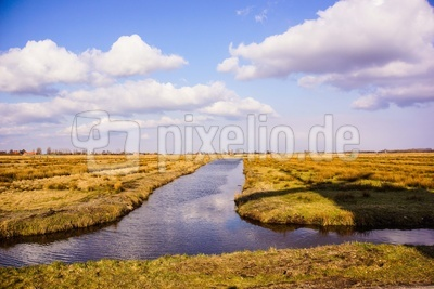 Landgewinnung in Holland (Polder)
