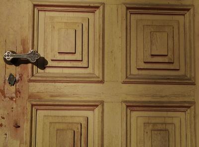 Kapellentür in Holz