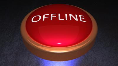 Offline Button schräg