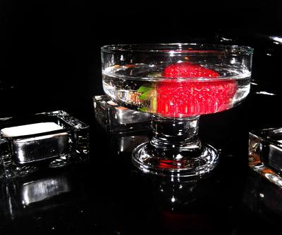 Erdbeere in Prosecco