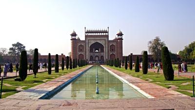 Eingang zum Taj Mahal  10