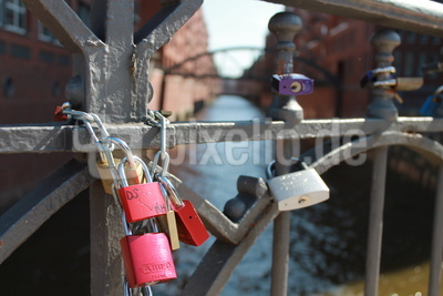 Liebesschlösser a.d.Brücke