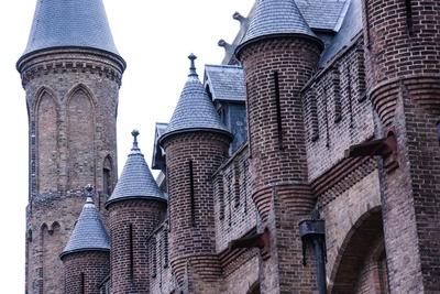 Mauerwerk mit Türmchen - Binnenhof in Den Haag