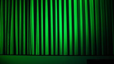 Kino-Vorhang grün frontal