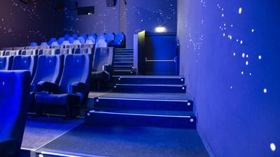 Kino-Sitzreihen  blau