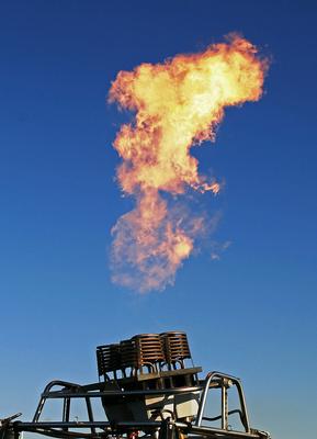 Flamme des Heißluftballons