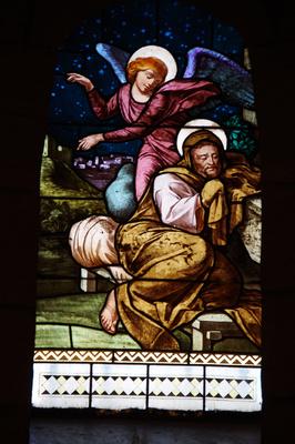 Kirchenfenster in der Verkündungskirche von Nazareth