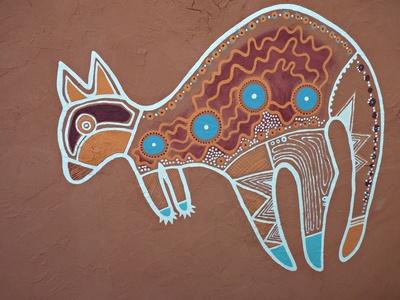 Känguru - Aborigines Kunst