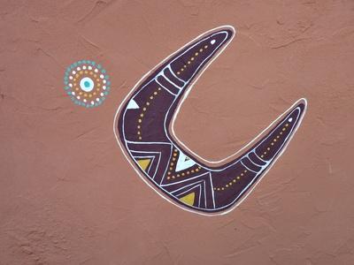 Bumerang - Aborigines Kunst