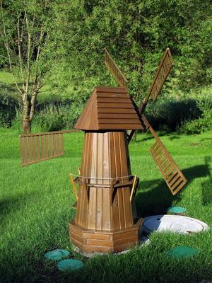 Miniatur-Windmühle