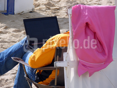 Informationen am Strand oder immer Online