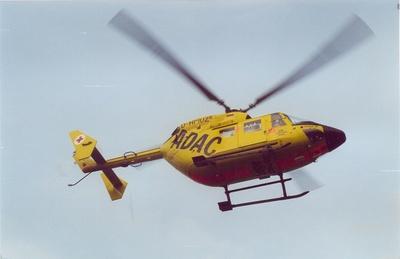 Landung  des RTH  BK - 117