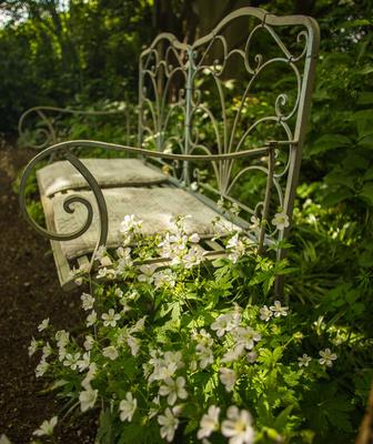 Garten-Romantik weiss-grün