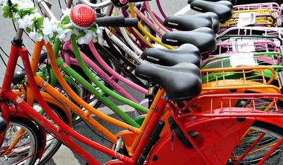 So schön bunt können Fahrräder sein
