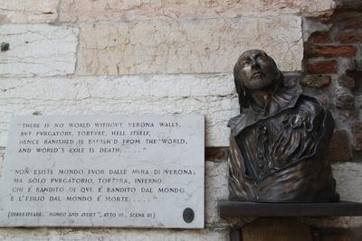 Shakespeare-Büste in Verona