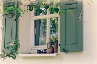 Fenster eines Landhauses