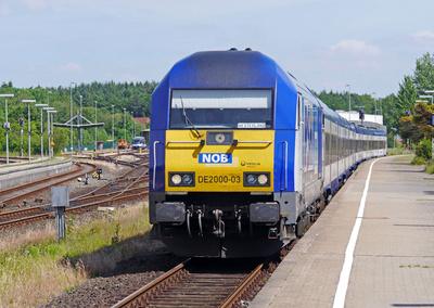 Regionalexpress nach Westerland auf Sylt