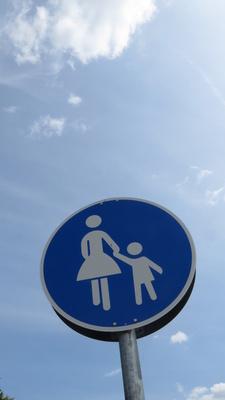 Schild Fußgänger