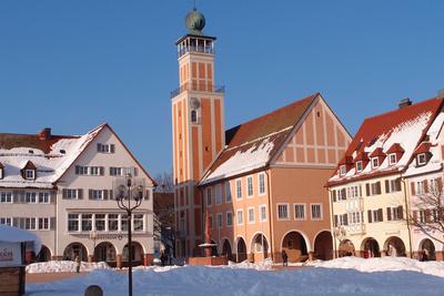 Freudenstädter Marktplatz mit Rathaus