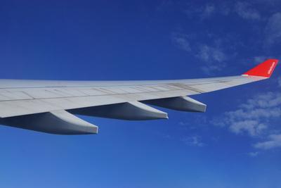 Wingtip über den Wolken