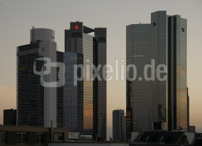 Bankenhochhäuser in Frankfurt