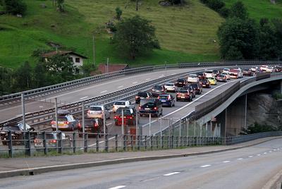 6 Uhr morgens: Ferienstau am Gotthard