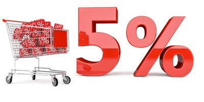 5% Einkaufswagen