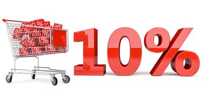 10% Einkaufswagen