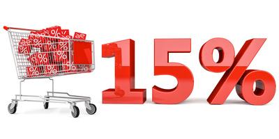 15% Einkaufswagen