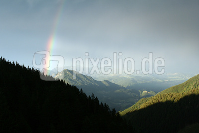 Regenbogen Berge
