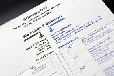 Bundestagswahl 2013 Stimmzettel