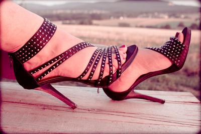 High heels Holzbank