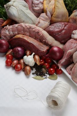 Verschiedene Sorten Fleisch