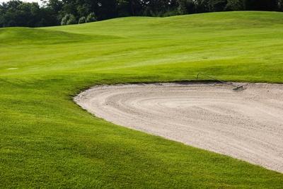 Golfplatz neutral, Fairway mit Bunker