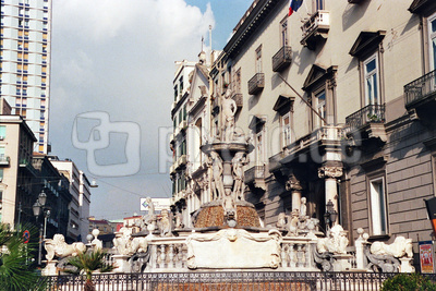 Neapel - Netunbrunnen/Napoli - Fontana del Nettuno