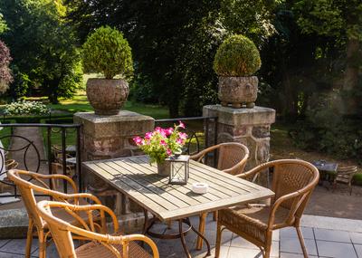 Terrasse zum Schlossgarten