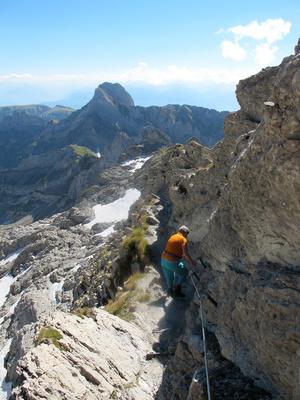 Kleiner Klettersteig am Säntis 3