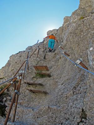 Kleiner Klettersteig am Säntis 2