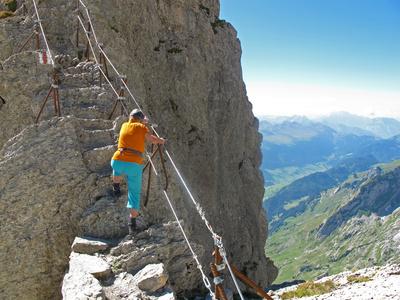 Kleiner Klettersteig am Säntis