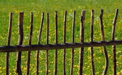 Holzzaun zum Bauerngarten