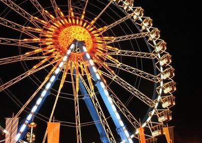 Das Riesenrad bei Nacht 03