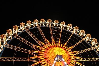 Das Riesenrad bei Nacht 08