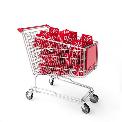 Einkaufswagen Prozente
