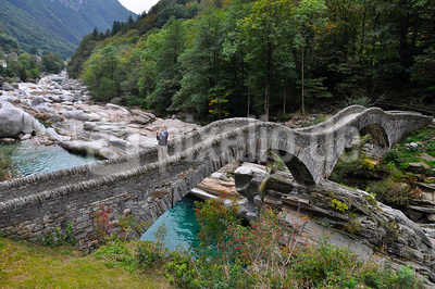 Doppelbogenbrücke Ponti di Salti