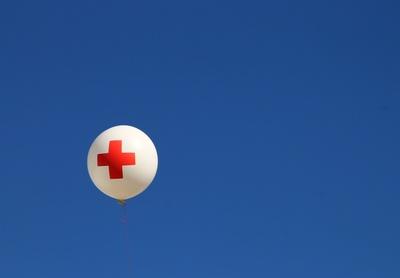 Der Rettungsballon...
