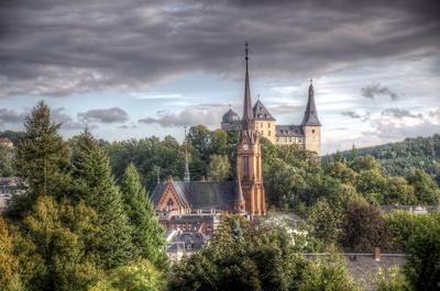 Mylau / Vogtland / Saxony / Church & Castle