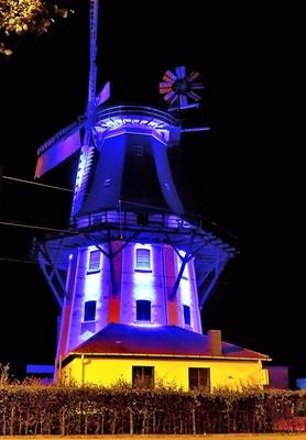 Horner Mühle illuminiert