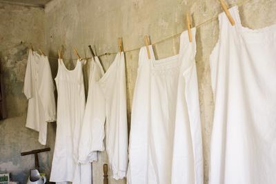 Wäsche trocknen früher