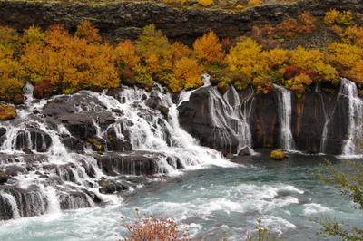 Lavawasserfälle Hraunfossar Island
