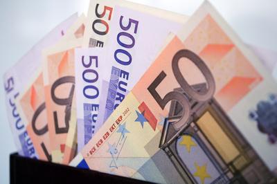 50 Euro- und 500 Euro-Scheine